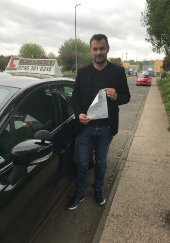 Congratulations Alex , passed first time