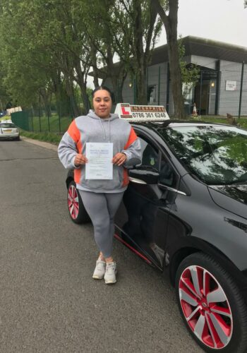 Congratulations Sharlene, passed first time